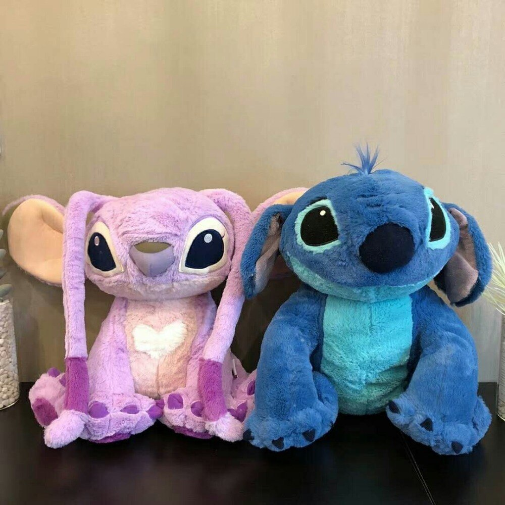 40cm Stitch Girlfriend and Stitch Plush Stuffed Animals Doll Kids Toys Children Christmas Gifts two units 161ac