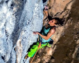 Climber Mina Markovic again goes on the record