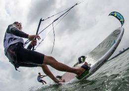 Identified new world champions kiteboarding