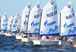 In St. Petersburg the first stage of the race Optimists Northern Capital