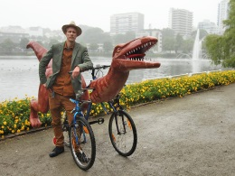 Norway on a bicycle-dinosaur
