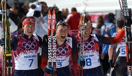 Russia has just three medals in ski racing