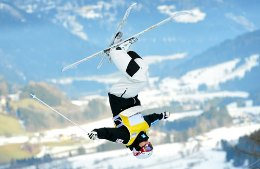 Ski acrobats showed class at the World Cup freestyle