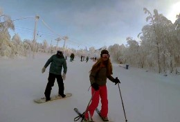 The opening of the ski season 2014-2015 in the Gubakha