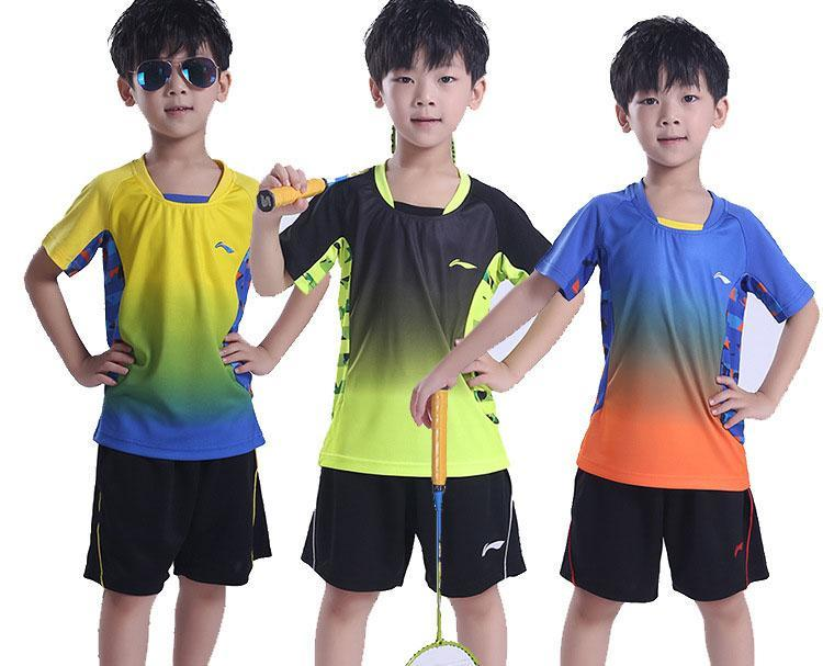 children kids tennis shirts sports jersey b3407