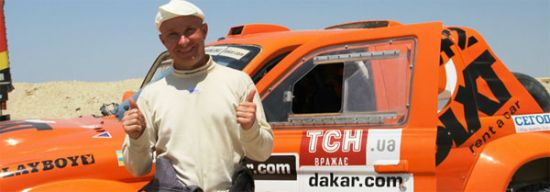 Ukrainian Vadim Nesterchuk race car driver died in the desert