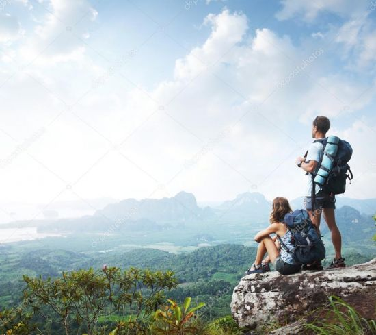 depositphotos 16260457 stock photo hikers with backpacks 90951