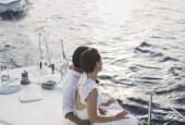 Торжественное мероприятия на яхте в акватории московских водохранилищ