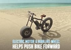 Велосипед для путешествий по песку и снегу